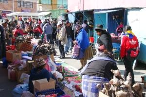 Mines d'argent de Potosi, Bolivie, marché des mineurs