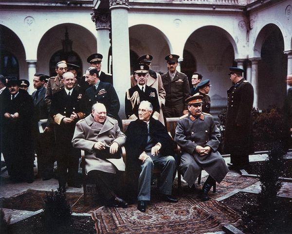 La conférence de Yalta, Février 1945, Joseph Staline, Franklin Delano Roosevelt, Winston Churchill