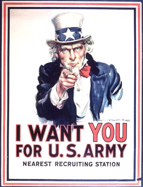 James Montgomery Flagg, Oncle Sam, I want You For the US Army