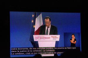 Meeting de François Hollande à Lyon le 1ier Mars 2012
