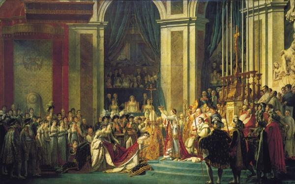 Le sacre de Napoléon 1ier, par le peintre Jacques-Louis David