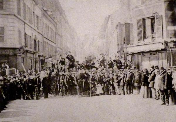 Commune de Paris, barricade de la rue Saint-Sébastien