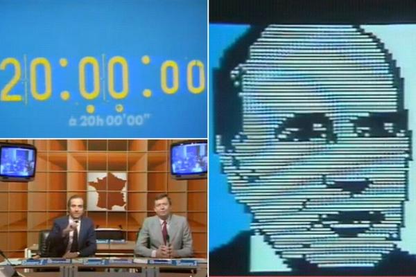 Election de François Mitterrand le 10 Mai 1981, présenté de façon numérique au journal télévisé