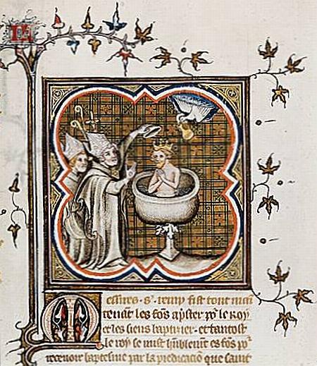 Baptême de Clovis à Reims