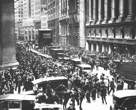 Krach de 1929, jeudi noir le 24 Octobre 1929, crise à Wall Street