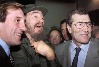 Gérard Depardieu avec Fidel Castro en 1996