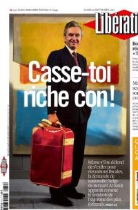 Libération Casse toi riche con, Bernard Arnault