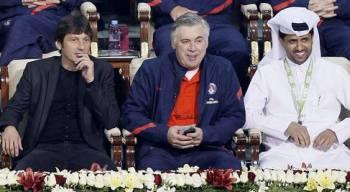Leonardo Carlo Ancelotti Nasser_Al-Khelaïfi les maîtres du PSG