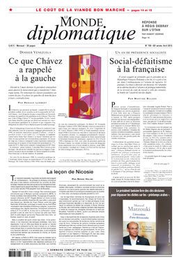 Le Monde Diplomatique Avril 2013