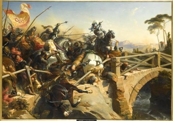 Bayard défendant le pont du Garigliano