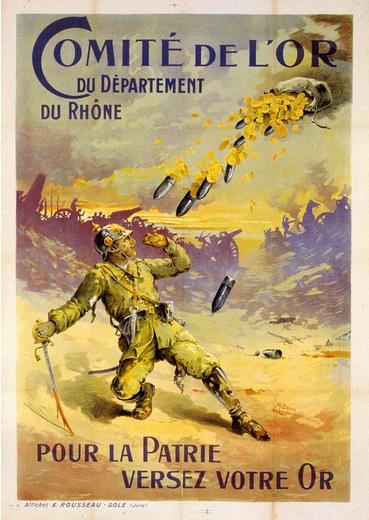 Comité de L'Or du Département du Rhöne pour la patrie versez votre or