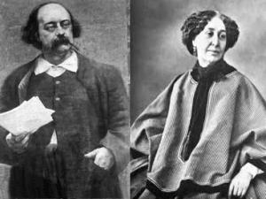 George Sand et Gustave Flaubert vers 1865