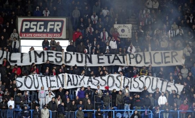 Supporters Ultras Parisiens en colere