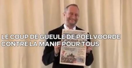 Le coup de gueule de Benoit Poelvoorde contre la Manif pour tous