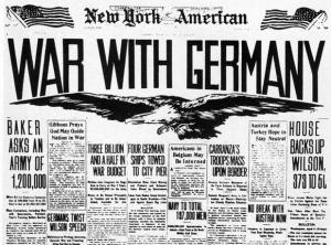 Etats-Unis entre en guerre contre l'Allemagne, 6 Avril 1917