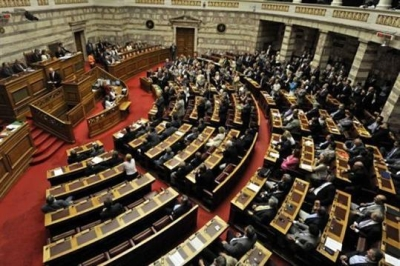 George Papandreou face au parlement Grec