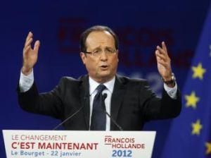 François Hollande au meeting du Bourget le dimanche 22 Janvier 2012
