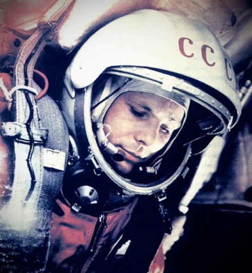 Youri Gagarine dans l'espace le 12 Avril 1961, mission Vostok 1