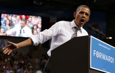 Barack Obama en campagne 2012