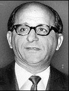 Sam Giancana, mafieux Américian d'origine Sicilienne, patron de l'Outfit de Chicago